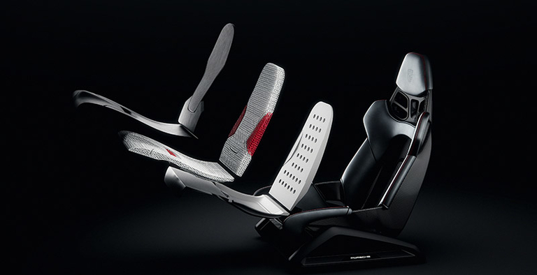 Porsche 3D-prints concept bucket seats